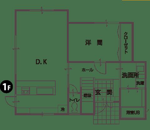 物件平面図1F